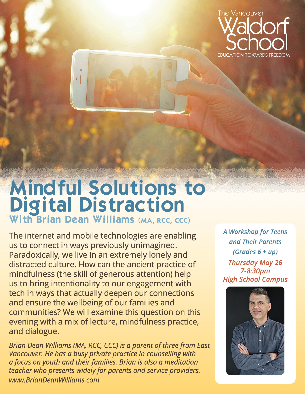 Mindful Solutions to Digital Distraction @ High School Campus