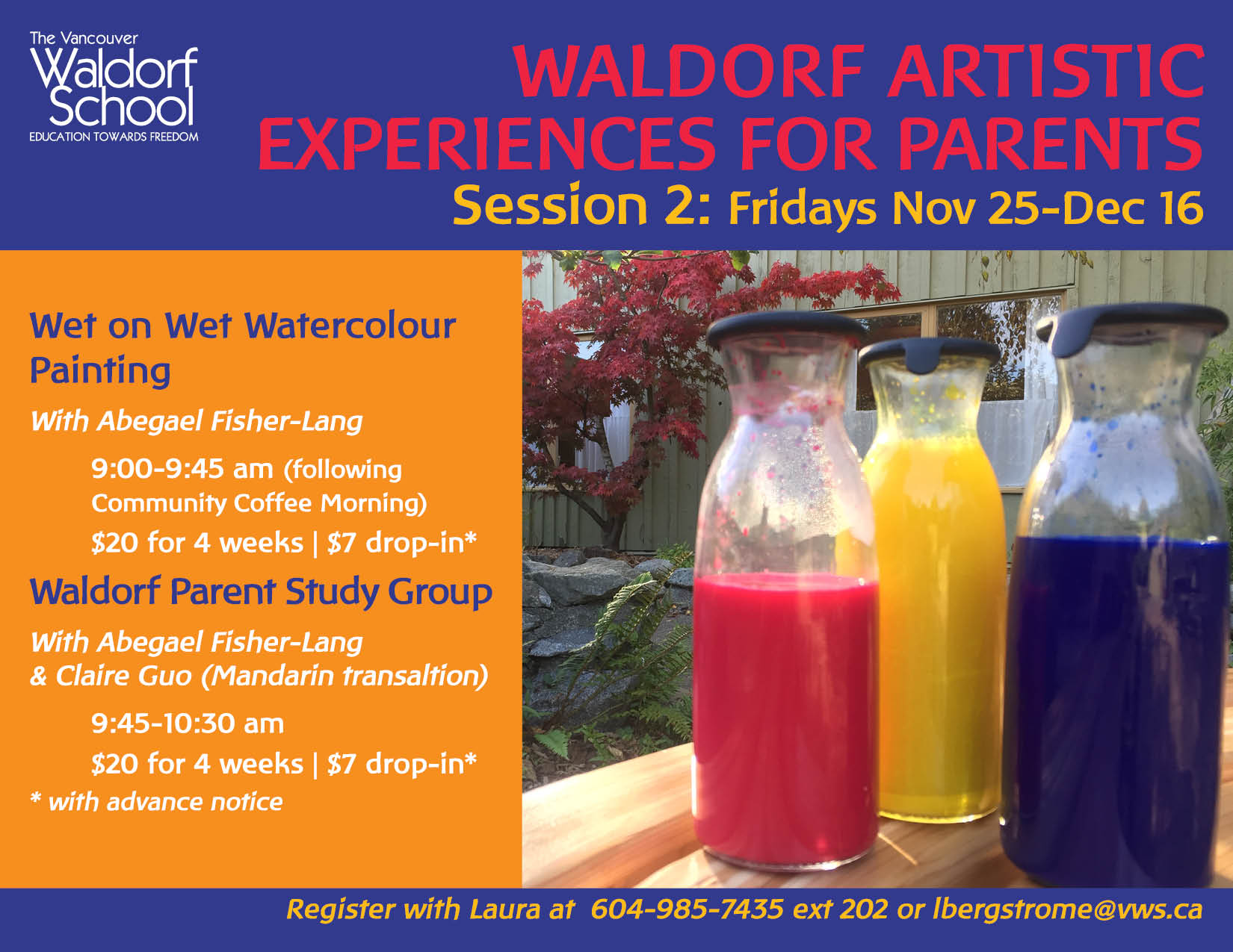 Waldorf Artistic Experiences for Parents